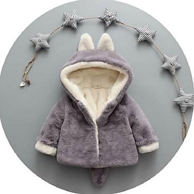 povoljno Odjeća za bebe-Dijete Djevojčice Ulični šik Jednobojni Jakna i kaput Blushing Pink