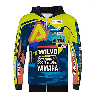 billige Motorsykkel & ATV tilbehør-yamaha stående konstruksjon motorsykkel jersey klær jakke for unisex polyster vår / høst / vinter varmere / pustende / raskt tørr
