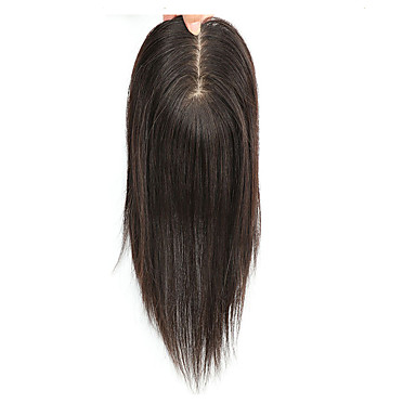 cheap Closure & Frontal-Brazilian Hair / Indian Hair Full Lace Straight Free Part Pixie Cut Swiss Lace Human Hair Women's / Unisex Mini / Safety / Case Office / Career / Dailywear