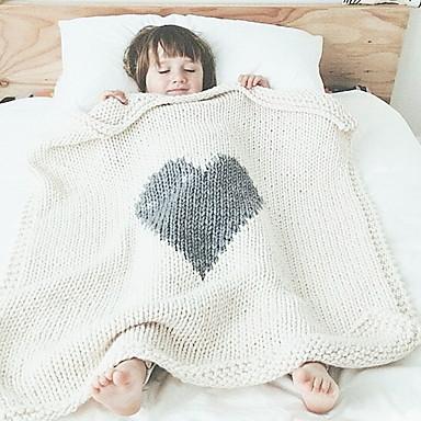 cheap Kids' Accessories-Toddler Girls' Geometric Blanket Light gray / White / Blushing Pink One-Size