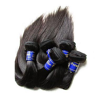 """povoljno Ekstenzije od ljudske kose-4 paketića 6 paketića Peruanska kosa Ravan kroj Virgin kosa Netretirana  ljudske kose Ljudske kose plete 10""""~30"""" Natural Isprepliće ljudske kose Prirodno Najbolja kvaliteta Za crnkinje Proširenja"""