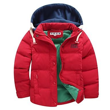 povoljno Odjeća za dječake-Djeca Dječaci Ulični šik Color block Pernata i pamučna podstava Crn