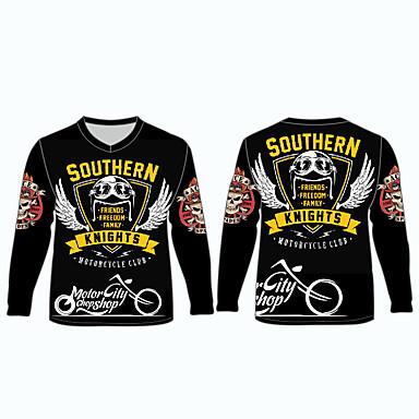 billige Motorsykkel & ATV tilbehør-sørlige riddere motorsykkel klær skjorter topper jersey for unisex polyester / polyamid pustende / raskt tørr