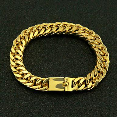 levne Pánské šperky-Pánské Náramek Přes rameno Twist Circle Punk Slitina Náramek šperky Zlatá Pro Dar Denní