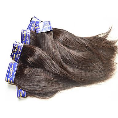 """povoljno Ekstenzije od ljudske kose-4 paketića 6 paketića Peruanska kosa Silky Straight Virgin kosa Netretirana  ljudske kose Ljudske kose plete 10""""~30"""" Natural Isprepliće ljudske kose Prirodno Najbolja kvaliteta Za crnkinje Proširenja"""