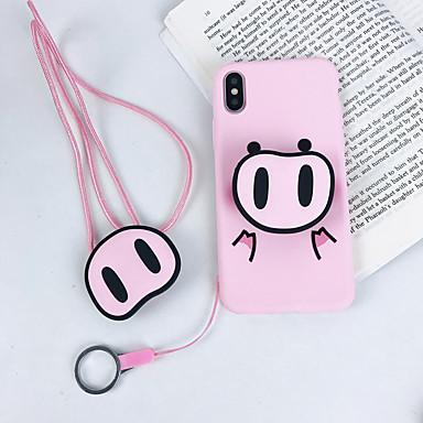 povoljno iPhone maske-futrola za jabuku iphone xs / iphone xr / iphone xs max ultra tanka / smrznuta / uzorak stražnja korica životinja / crtani tpu / pc