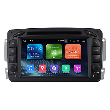 billige GPS-navigasjon for bil-Winmark WN7063 7 tommers 2 Din Android / Android 9.0 Bil GPS Navigator GPS / Innebygget Bluetooth / RDS til Mercedes-Benz RCA / Bluetooth Brukerstøtte MPEG / AVI / MOV mp3 / FLAC / APE jpeg / GIF