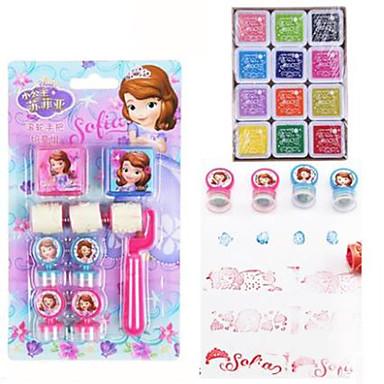 3pcs barn korea stil brevrullen stämpel gummi hantverk mönster etiketter index& stämplar