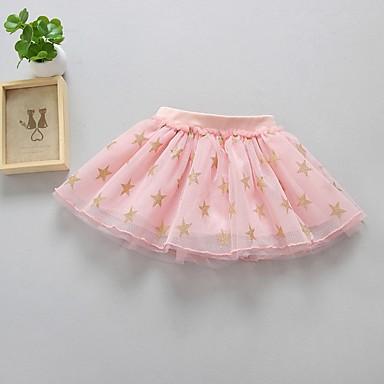 cheap Girls' Skirts-Kids Girls' Geometric Skirt Blushing Pink