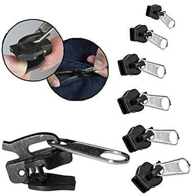 preiswerte Handwerkzeuge-6pcs Universal Instant Fix Zipper Repair Kit Ersatz Zip Slider Zähne Reißverschlüsse