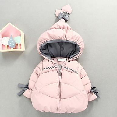 povoljno Odjeća za bebe-Dijete Djevojčice Ulični šik Print Pernata i pamučna podstava Blushing Pink