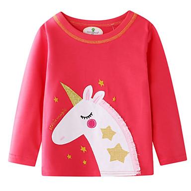 cheap Baby & Kids-Kids Girls' Basic Print Long Sleeve Sweater & Cardigan Red