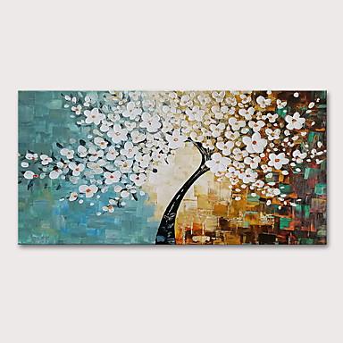 povoljno Ulja na platnu-Hang oslikana uljanim bojama Ručno oslikana - Cvjetni / Botanički Apstraktni pejsaži Moderna Uključi Unutarnji okvir