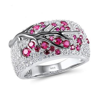 povoljno Prstenje-Žene Prsten 1pc Svijetlo zelena Crvena Platinum Plated Legura Dnevno Jewelry Slatko