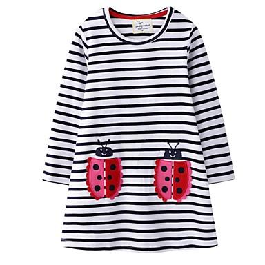 cheap Baby & Kids-Kids Girls' Striped Dress White
