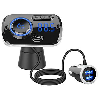 preiswerte Motorradhelm Kopfhörer-qc3.0 schnellladung freisprecheinrichtung drahtlose bluetooth car kit fm sender radio mp3 player dual usb ladegerät