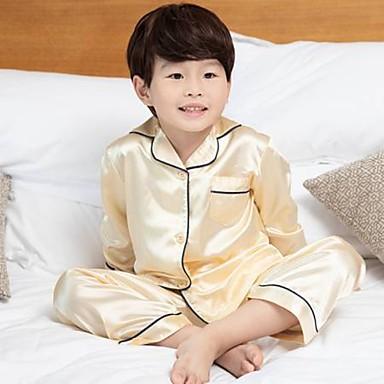 povoljno Odjeća za dječake-Djeca Dječaci Jednobojni Sleepwear Zlato