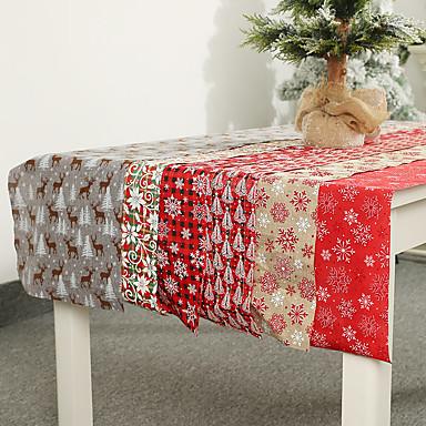 vászon karácsonyi dekoráció asztali zászlóval nyomtatott asztali futóval címer terítő hotelvel