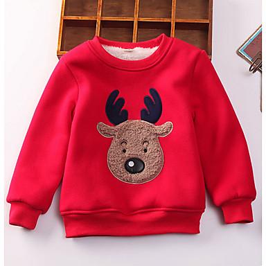 preiswerte Kapuzenpullover & Sweatshirts für Jungen-Kinder Jungen Grundlegend Druck Weihnachten Langarm Kapuzenpullover Königsblau
