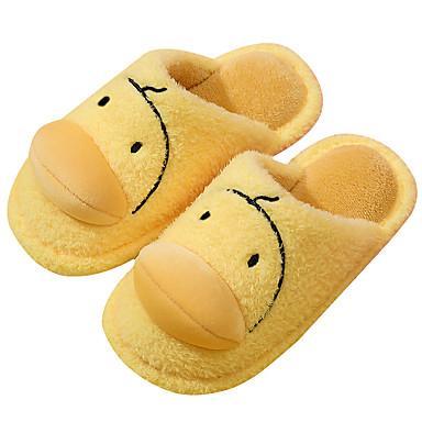 preiswerte Kinderhausschuhe-Jungen / Mädchen Komfort Kunstpelz Slippers & Flip-Flops Kleinkind (9m-4ys) / Kleine Kinder (4-7 Jahre) Walking Gelb Winter