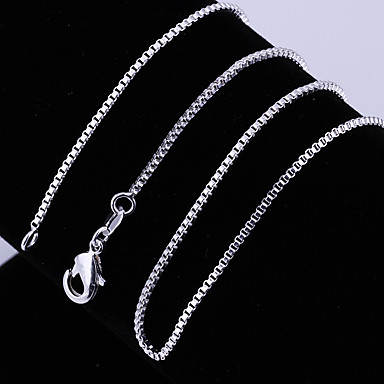 levne Dámské šperky-Dámské Řetízky Klasika Drahocenný Jedinečný design Módní Měď Postříbřené Stříbrná 45,56,61 cm Náhrdelníky Šperky 1ks Pro Denní Street Práce