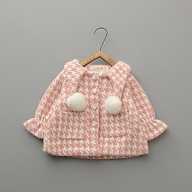 povoljno Odjeća za bebe-Dijete Djevojčice Ulični šik Print Jakna i kaput purpurna boja