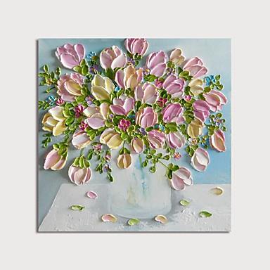 povoljno Ukrašavanje zidova-Hang oslikana uljanim bojama Ručno oslikana - Cvjetni / Botanički Moderna Uključi Unutarnji okvir