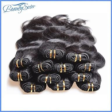 """povoljno Ekstenzije za kosu-2 Paketi 4 paketića 6 paketića Brazilska kosa Tijelo Wave Ljudska kosa tkati 8""""~24"""" Natural Isprepliće ljudske kose Žene proširenje Za crnkinje Proširenja ljudske kose / neprerađenih"""