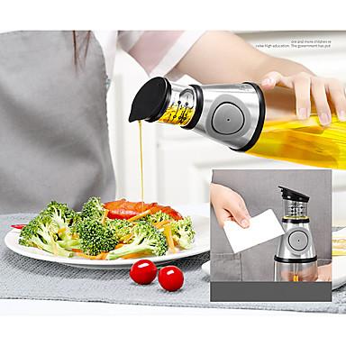 preiswerte Meßwerkzeuge-500 ml öl flaschenpresse art caster kann eingestellt werden ölverschmutzung prävention quantitative sauce essig glas flüssigkeitskontrolle öltopf