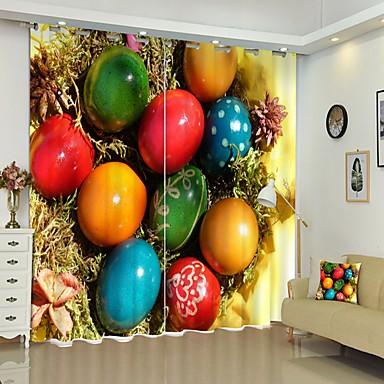 színes tojás dgital nyomtatás 3d függöny árnyékoló függöny nagy pontosságú fekete selyem anyagból kiváló minőségű függöny