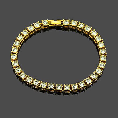 voordelige Herensieraden-Heren Tennis Armbanden Tennis ketting Verticaal Punk Legering Armband sieraden Zwart / Goud / Zilver Voor Dagelijks