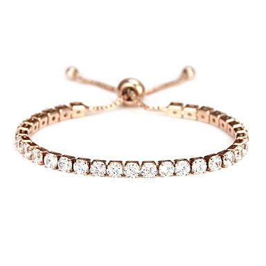 voordelige Dames Sieraden-Dames Zirkonia Tennis Armbanden Klassiek Verticaal Zoet Legering Armband sieraden Goud Rose / Zilver Voor Dagelijks