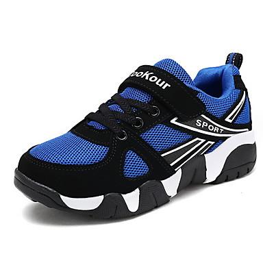 preiswerte Schuhe für Kinder-Jungen Komfort PU Sportschuhe Große Kinder (ab 7 Jahren) Rennen Schwarz / Blau Herbst / Einfarbig