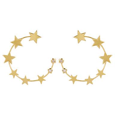 Női Francia kapcsos fülbevalók Mértani Zvijezda Stílusos Egyszerű Fülbevaló Ékszerek Arany Kompatibilitás Napi 1 pár