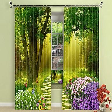 erdő csendes digitális nyomtatás 3d függöny árnyékoló függöny nagy pontosságú fekete selyem anyagból kiváló minőségű függöny