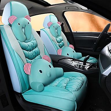 billige Interiørtilbehør til bilen-tegneserie plysj bil putetrekk full surround setetrekk 5 seter tegneserie med 2 nakkestøtter og 2 lumbarkompatible med kollisjonsputer