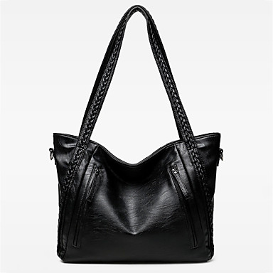 cheap New Arrivals Discount-Women's PU Top Handle Bag Solid Color Black
