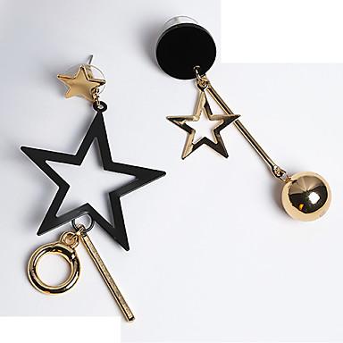 voordelige Dames Sieraden-Dames Mismatch oorbellen mismatched Ster Etnisch oorbellen Sieraden Goud Voor Dagelijks 1 paar