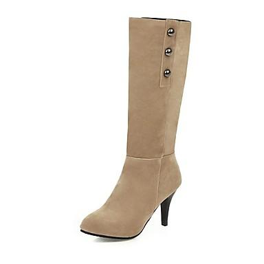 voordelige Dameslaarzen-Dames Laarzen Naaldhak Gepuntte Teen Synthetisch Kuitlaarzen Informeel / minimalisme Winter Zwart / Geel / Rood
