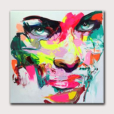 povoljno Ukrašavanje zidova-Hang oslikana uljanim bojama Ručno oslikana - Sažetak Ljudi Moderna Bez unutrašnje Frame