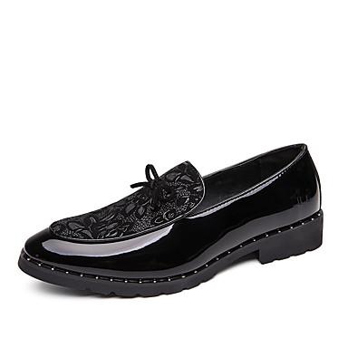 Férfi Kényelmes cipők PU Ősz Alkalmi Papucsok & Balerinacipők Csúszásmentes Fekete / Piros / Kék