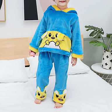 preiswerte Unterwäsche & Socken für Jungen Babys-2pcs Baby Jungen Tiger Patchwork Tiermuster / Patchwork / Grundlegend Schlafanzüge Blau