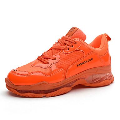 abordables Chaussures de Course Homme-Homme Chaussures de confort Automne Sportif Athlétique Chaussures d'Athlétisme Course à Pied Polyuréthane Ne glisse pas Jaune / Orange / Vert