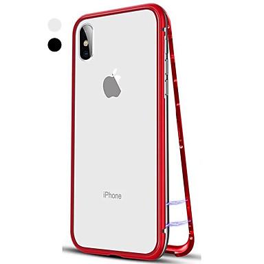 Etui Til Apple iPhone XS / iPhone XR / iPhone XS Max Flipp / Gjennomsiktig Heldekkende etui Ensfarget Hard Herdet glass