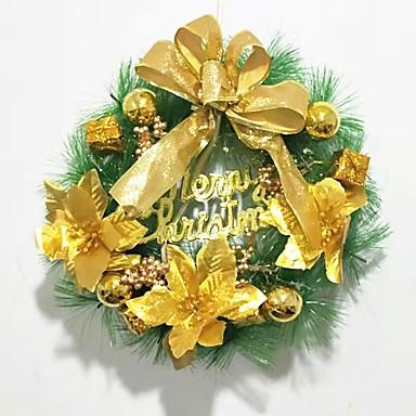 a karácsonyfa dekoráció koszorú koszorúk 30cm-en lógnak