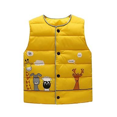 povoljno Odjeća za dječake-Djeca Dječaci Ulični šik Print Prsluk Svjetloplav