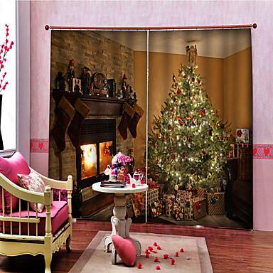 baratos Acessórios para cortinas-Natal Privacidade Dois Painéis Cortina