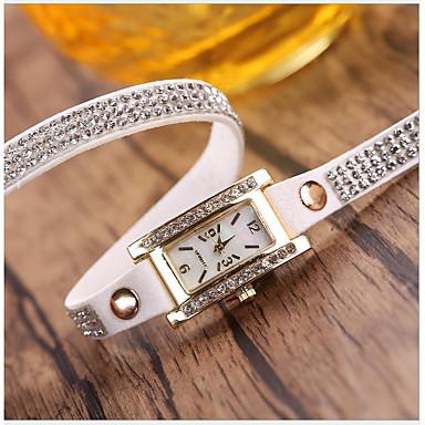 preiswerte Uhren-Damen Uhr Uhr wickeln Quartz Leder Armbanduhren für den Alltag Analog Freizeit Modisch
