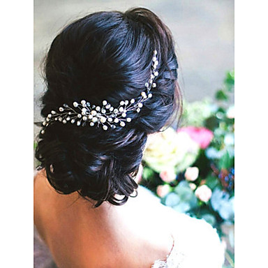 cheap Party Accessories-Imitation Pearl Hair Combs with Imitation Pearl 1 Piece Wedding Headpiece