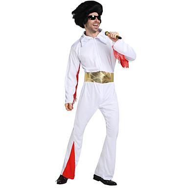 Elvis Anos 60 Perucas de Cosplay Equipamento Homens Ocasiões Especiais Perucas / Equipamento Vintage Cosplay Pant Long